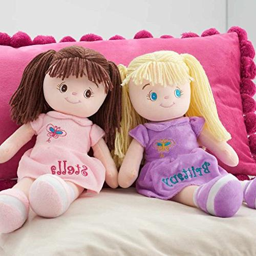 personalized butterfly snuggle doll