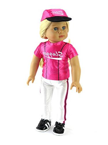 """Hot Pink Baseball with and Shoes 18"""" Madame etc.   Doll Clothes"""