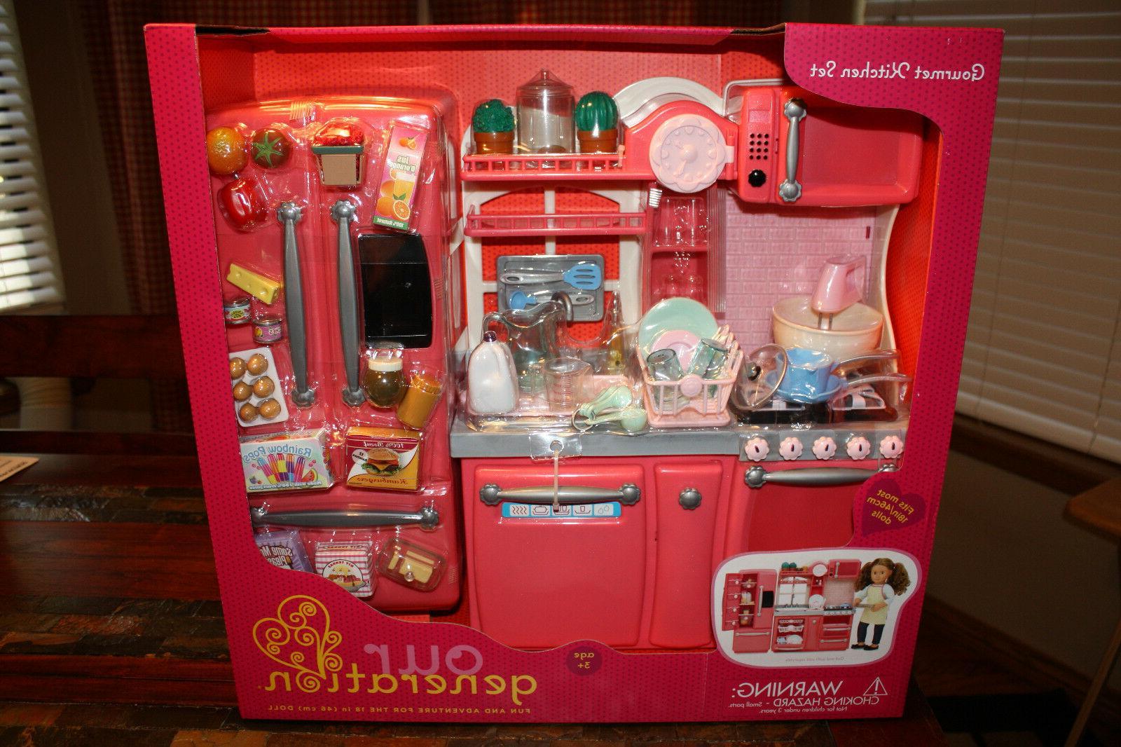 pink gourmet kitchen set