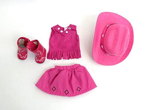 American World Pink Little Boots-Fits Wisher Dolls Inch