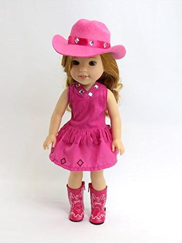 American Fashion Hot Pink Boots-Fits 14 Inch Wisher Dolls Inch Doll