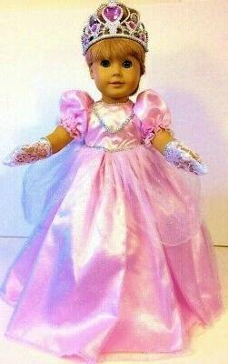pink princess dress fits 18 american girl
