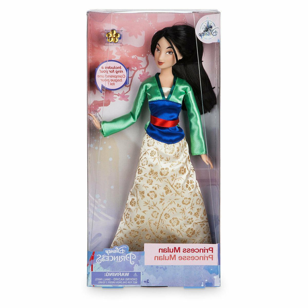 Disney Store Princess Mulan Classic Doll With Ring, 11.5 Inc