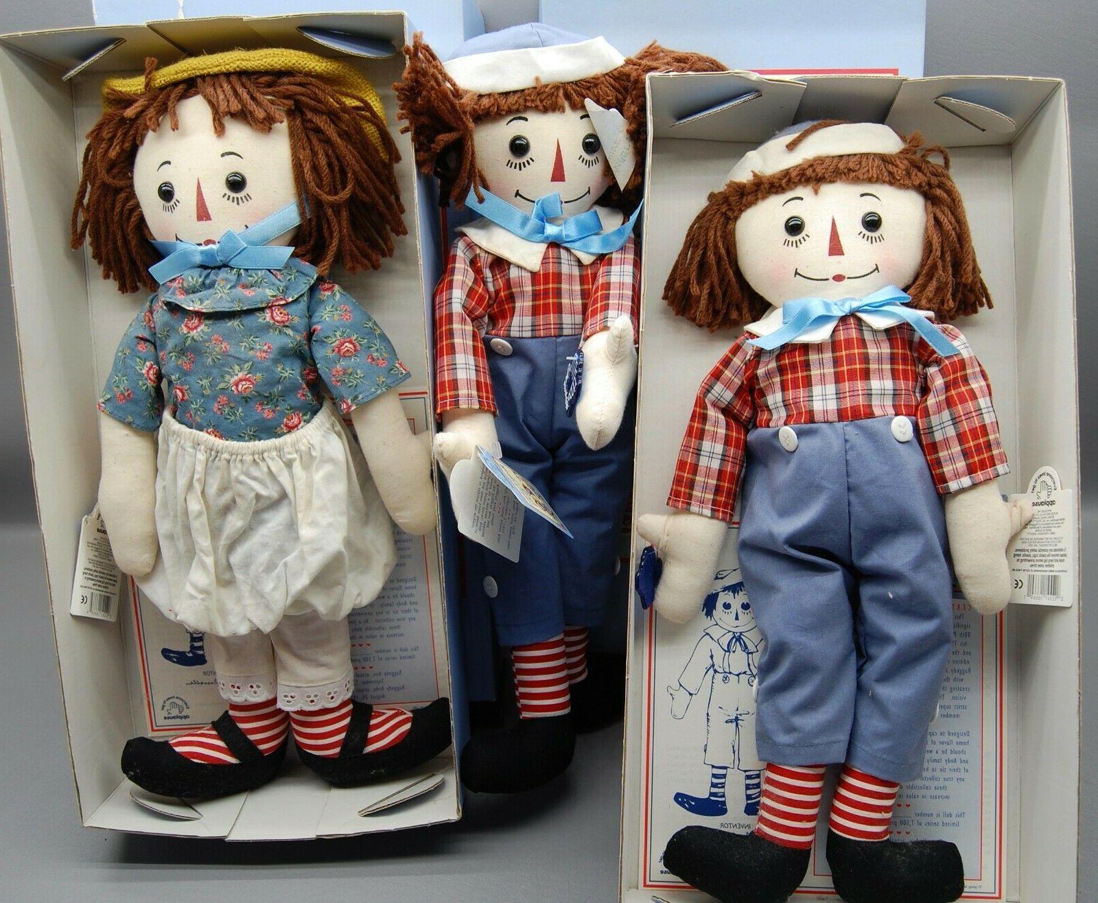 Raggedy Ann Doll Anniversary 1995 Applause -  COA w/Box