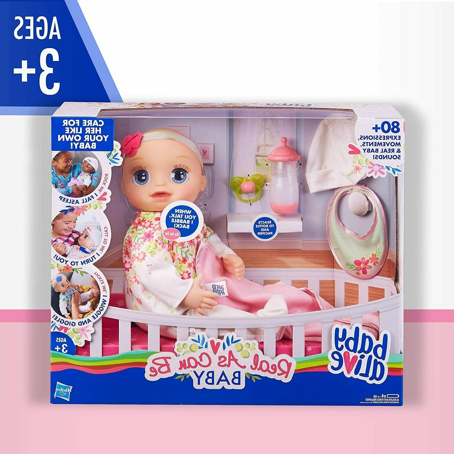 Baby Alive Real As Can Be Baby: Realistic Blonde Baby Doll,