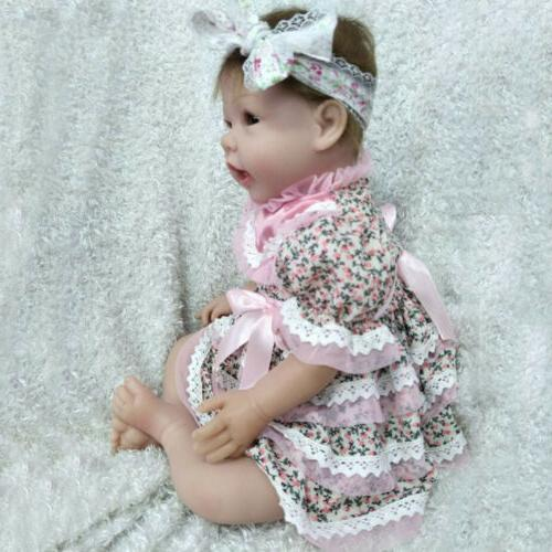 Realistic Reborn Dolls Newborn Girl Lifelike Silicone Vinyl