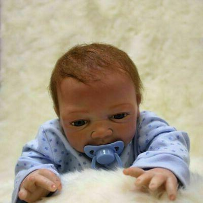 "Realistic Newborn Doll 22"" Handmade Silicone"