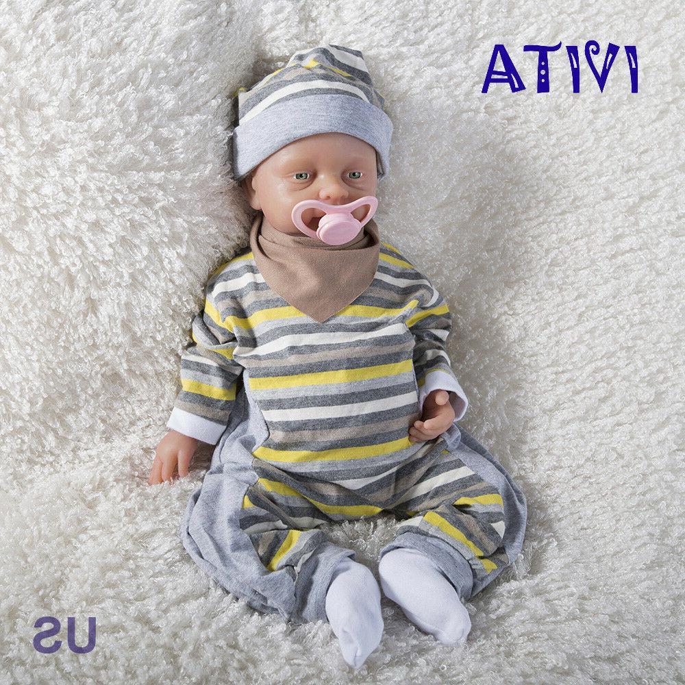 IVITA Reborn Baby Doll 18inch Realistic Silicone Reborn Baby