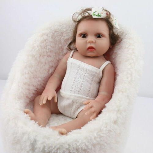 "18"" Baby Girl Dolls Silicone Handmade Full Body"