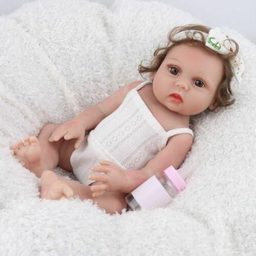 """18"""" Reborn Dolls Silicone Realistic Full Body Newborn Doll"""