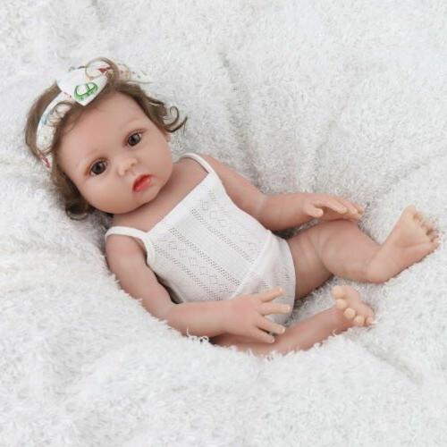 "18"" Reborn Dolls Silicone Handmade Realistic Full"