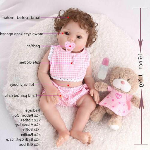 "Reborn Baby Girl Dolls 16"" Full Body Silicone Vinyl Handmade"