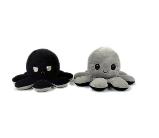 Reversible Emotion Poulpe Animals Plush Toy