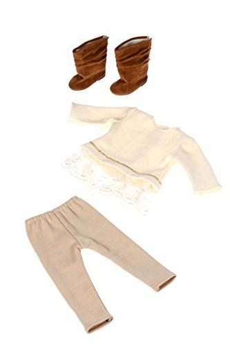 DreamWorld Collections - Melody 3 Piece Outfit Tunic, and Clothes Fits Girl Doll