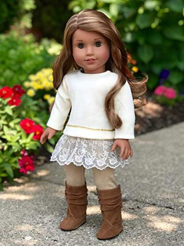 Melody Outfit - Tunic, and Boots - Clothes Fits 18 American Girl