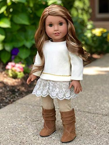 DreamWorld Collections Melody Outfit Tunic, and Boots Fits Girl Doll