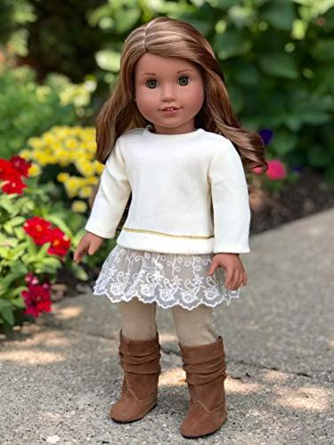 DreamWorld Melody Piece Outfit Tunic, and Boots - Clothes Fits Inch American Girl