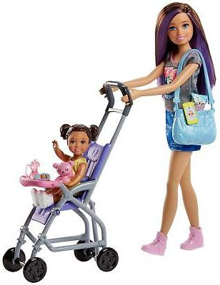 skipper babysitters inc doll and stroller playset
