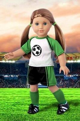 "Soccer Girl - Clothes for 18"" American Girl Doll, Shirt Shor"