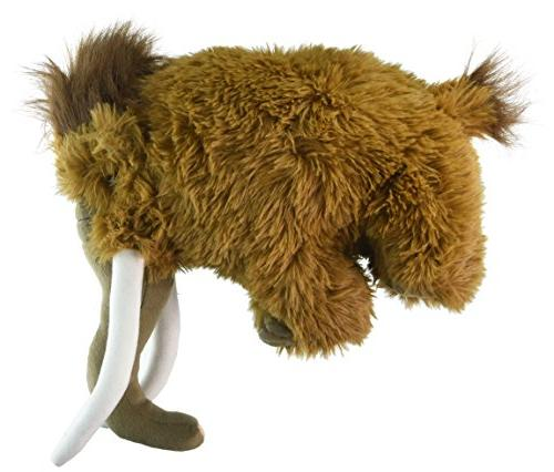 12 Inch Standing Woolly Mammoth Plush Stuffed Animal by Fies