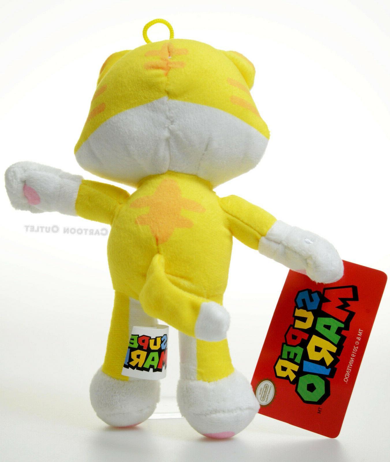Super Mario Tanooki Plush Toy Yellow Gift