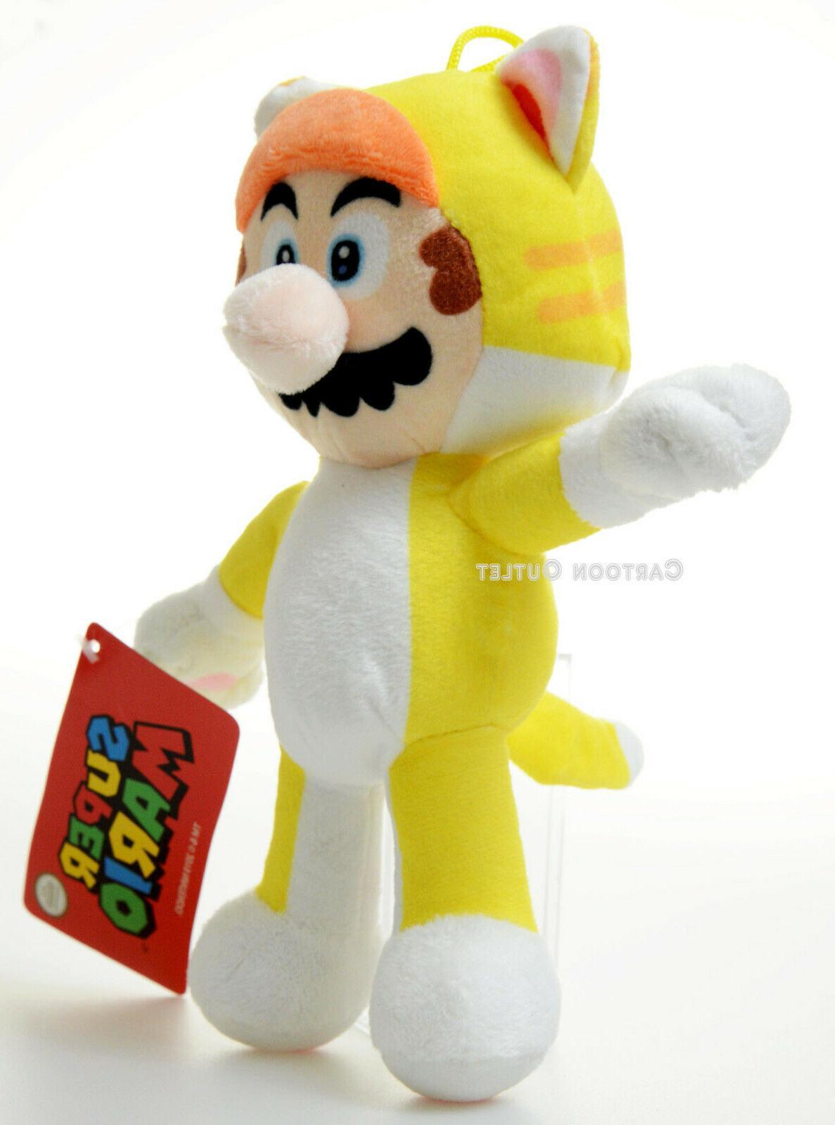 Super Mario 8 Tanooki Stuffed Plush Doll Toy Costume Birthday Gift