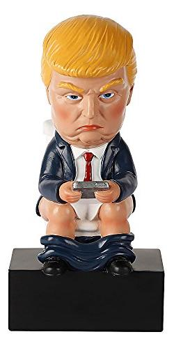Toilet Donald Trump Doll Funny Realistic White Elephant Gag