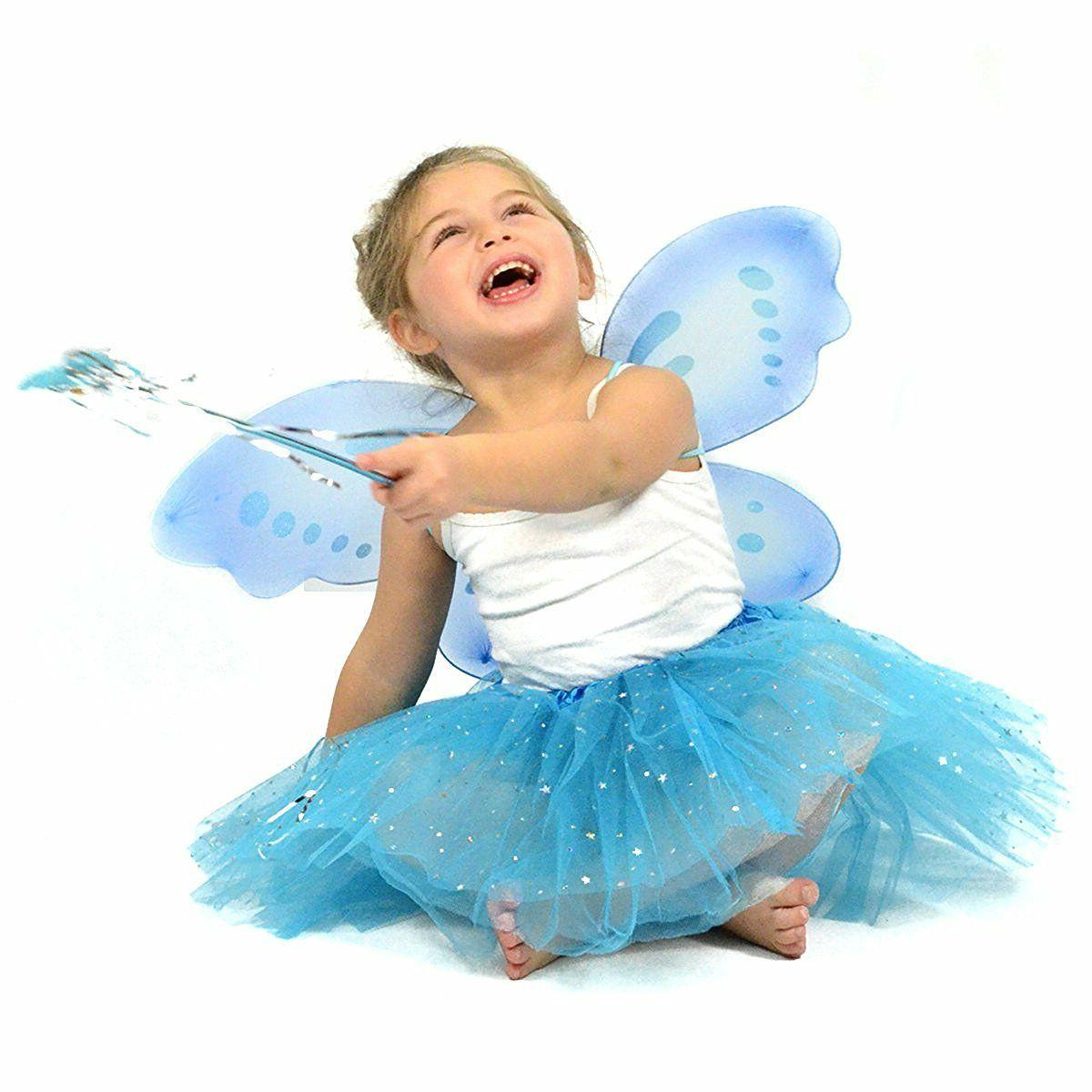 turquoise glitter fairy princess dress up matching