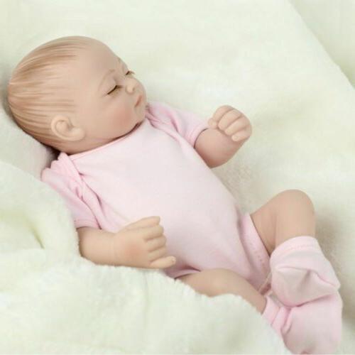 Twins Preemies Newborn Dolls Lifelike Full Vinyl Reborn Doll