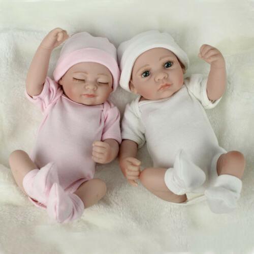 Twins Baby Dolls Newborn Vinyl Boy&Girl