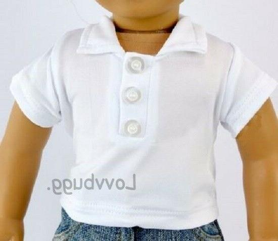 white polo shirt for american girl or