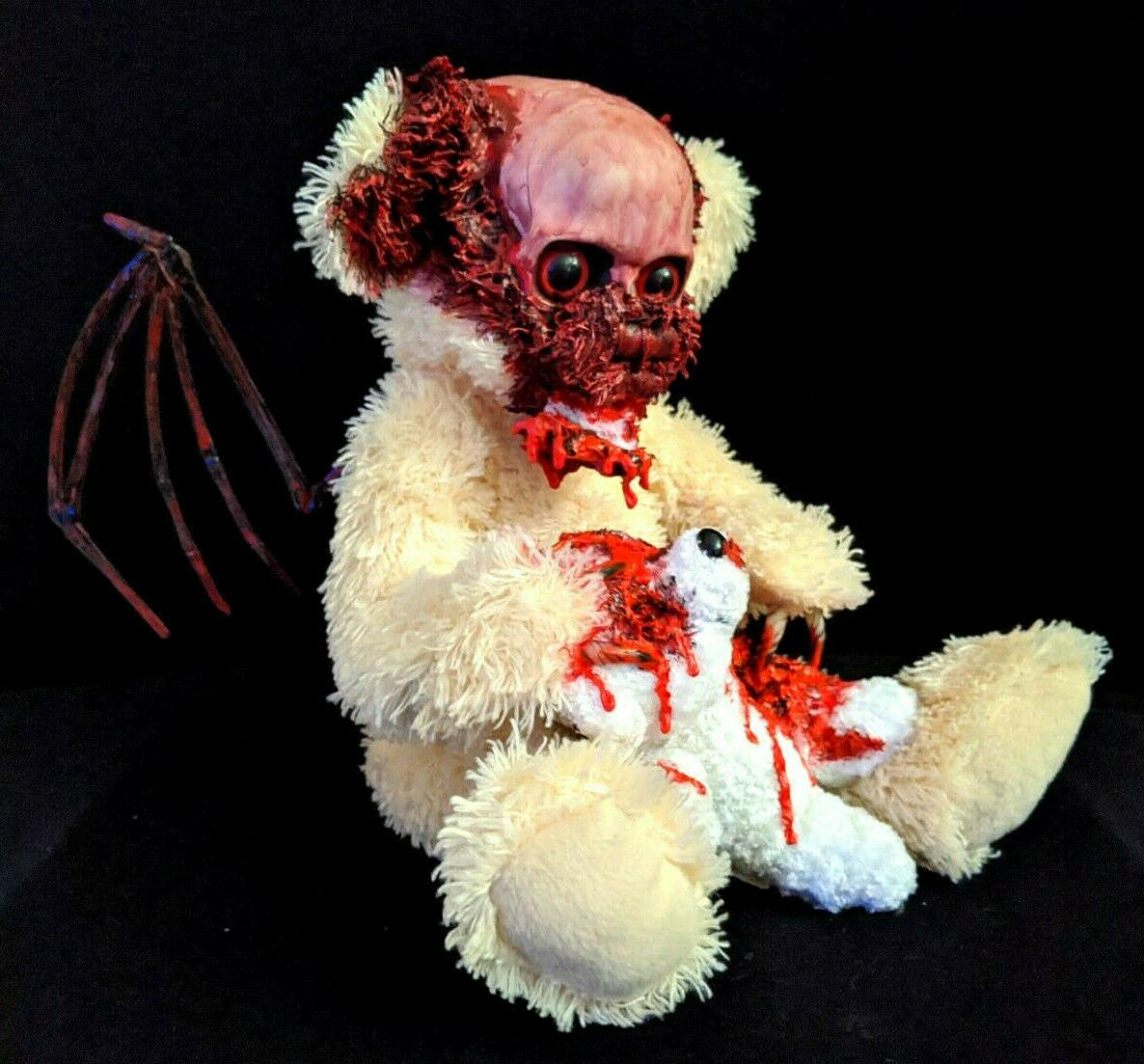 winged zombie teddy halloween decoration prop gothic