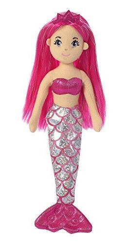 Aurora World Sea Sparkles Mermaid Plush, Garnet, Small