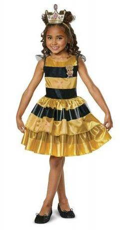 L.O.L. Dolls Classic Queen Bee Costume for Toddlers, Medium/