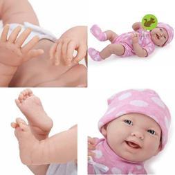 "La Newborn 15"" All-Vinyl Life-Like Baby Doll, Pretty Polka D"