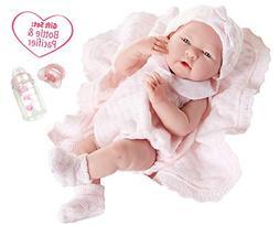 JC Toys La Newborn All-Vinyl-Anatomically Correct Real Girl
