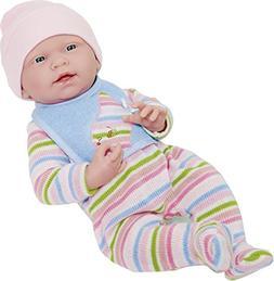 "JC Toys La Newborn Baby Play Dolls, White, 15"""