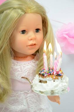 Lace Birthday Dress for American Girl Dolls - Special Occasi