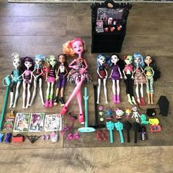 Large Lot Monster High Dolls & Accessories