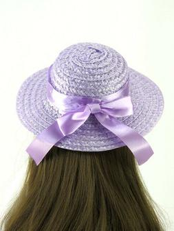 Lavender  Straw Hat  for 18'' Dolls by American Fashion Worl