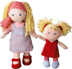 HABA Lennja & Elin Sisters - 12 inch and 8 inch Soft Doll Pa