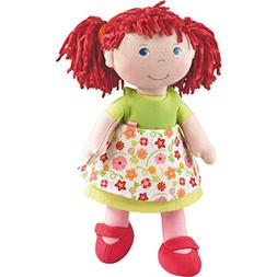 "HABA Liese 12"" Soft Doll with Blue Eyes and Red Pigtails"