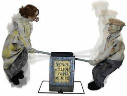 Life Size Animated See Saw Dolls Halloween Prop Haunted Deco