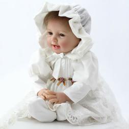 "Lifelike 22"" Reborn Dolls Baby Girl Newborn Realistic Silico"
