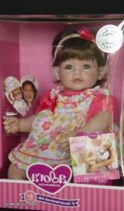 Lifelike Handmade Realistic Vinyl 20 inch Toddler Girl Doll