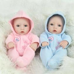 "10"" Full Body Vinyl Silicone Reborn Baby Dolls Newborn Girl+"
