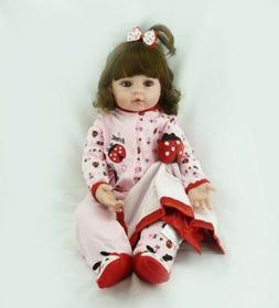 Lifelike Reborn Baby Dolls Handmade 22 inch Soft Vinyl Toddl