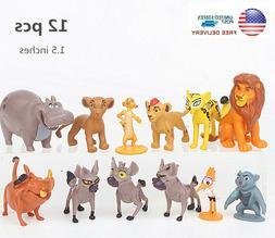 Lion King Simba Nala Playset 12 Figure Cake Topper Toys Doll