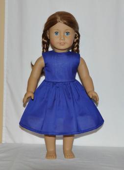 "Lite Weight Blue Summer Dress For 18"" American Girl Doll C"