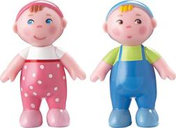 "HABA Little Friends Babies Marie & Max - 2.5"" Twin Bendy Dol"